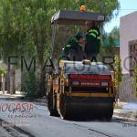 Avance de la repavimentación por calle Sarmiento