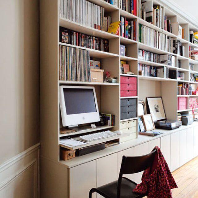 1000 id es sur le th me meuble ordinateur sur pinterest bureau bureaux et - Creer sa bibliotheque ...
