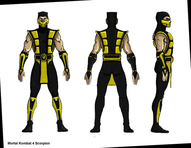 Character Design Mortal Kombat : Mk scorpion blueprint by hhh model sheets