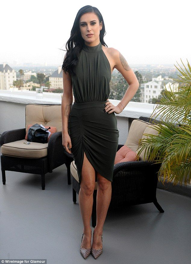 Leggy display: Rumer Willis confidently paraded her lean and slender frame as she attended...