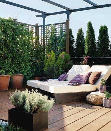 Una terraza como esta no estaría nada mal!!!