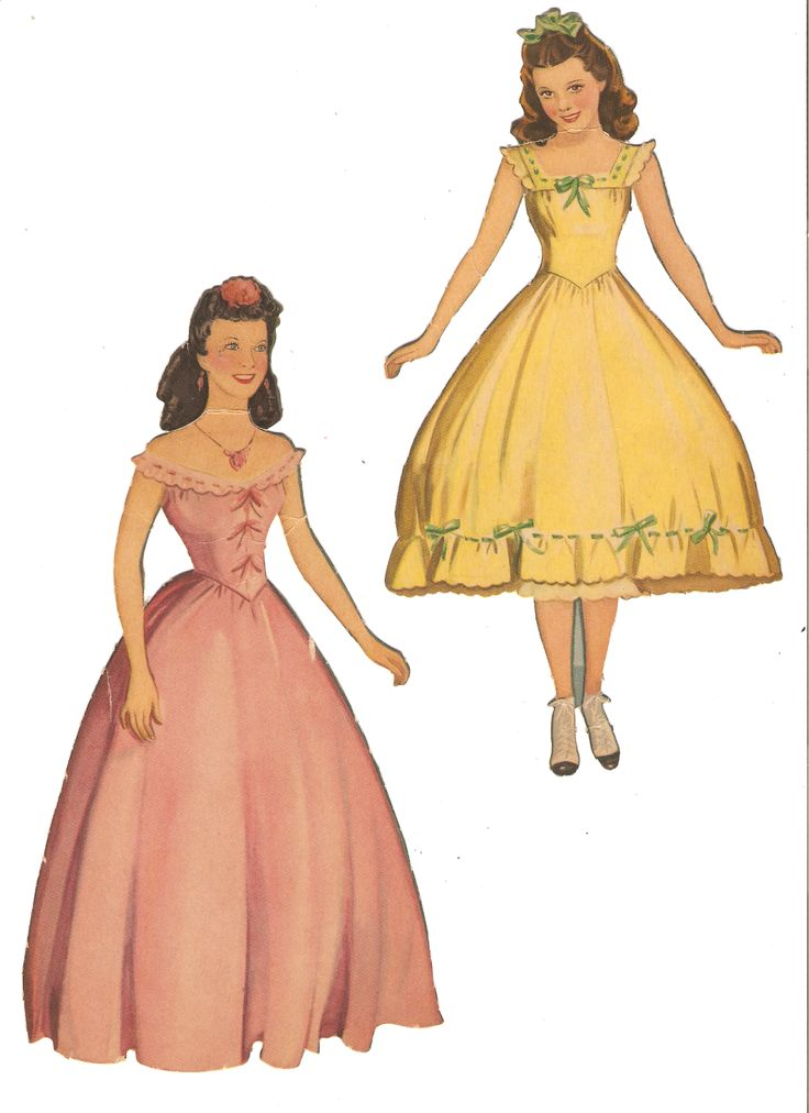 005 Gone with the Wind Paper dolls, Paper dolls clothing