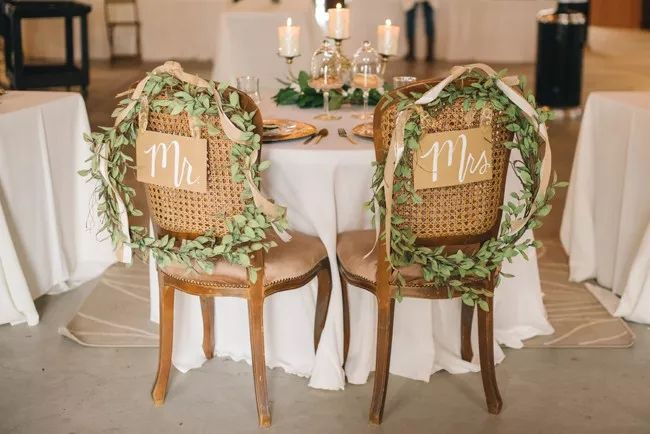 Mr. and Mrs. signs at sweetheart table | Amanda Adams Photography | see more at http://fabyoubliss.com
