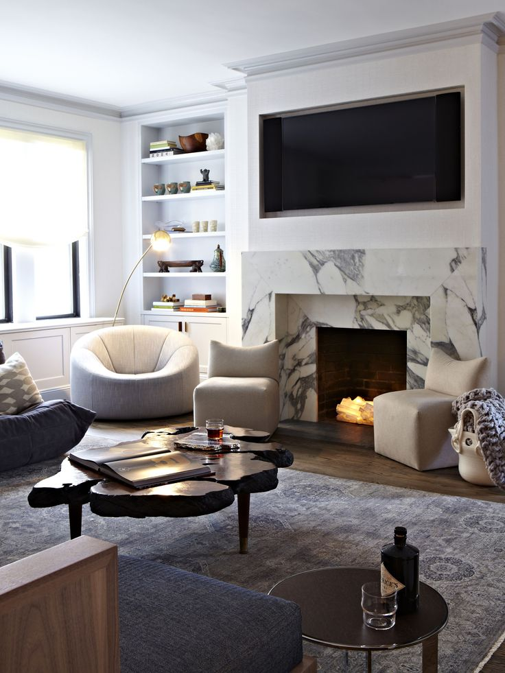 25 best marble fireplace surround ideas on pinterest for Living room ideas no fireplace