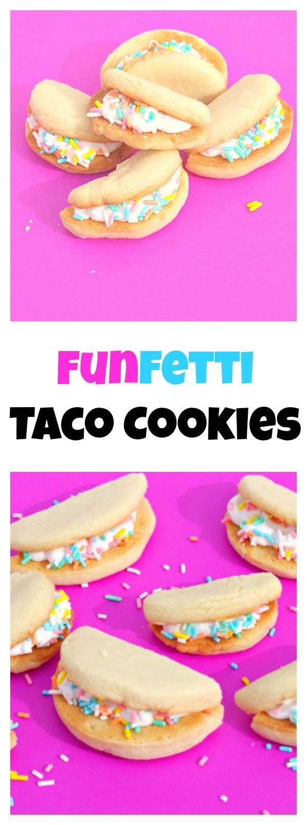 Funfetti Taco Cookies