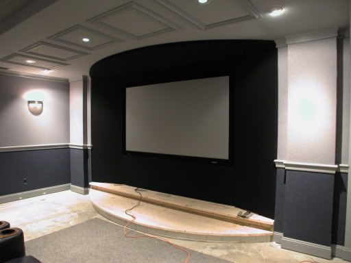 17 best images about home theater on pinterest wall racks big mouths and the gap - Home theater screen wall design ...