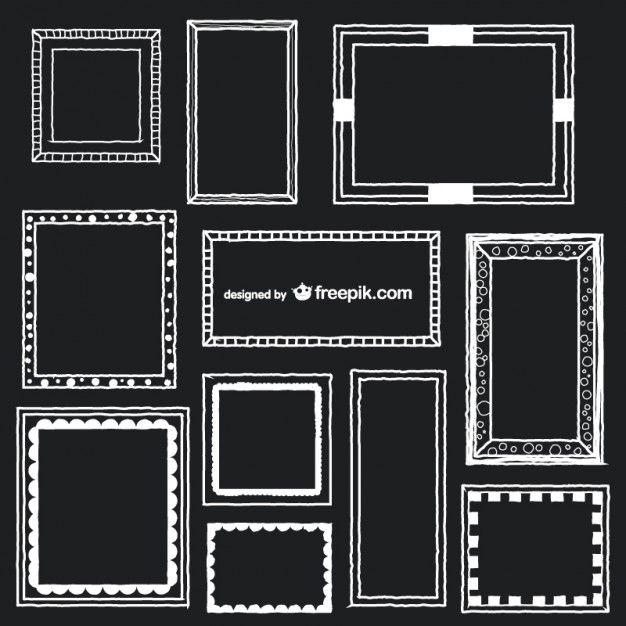 Art frames vector set Free Vector
