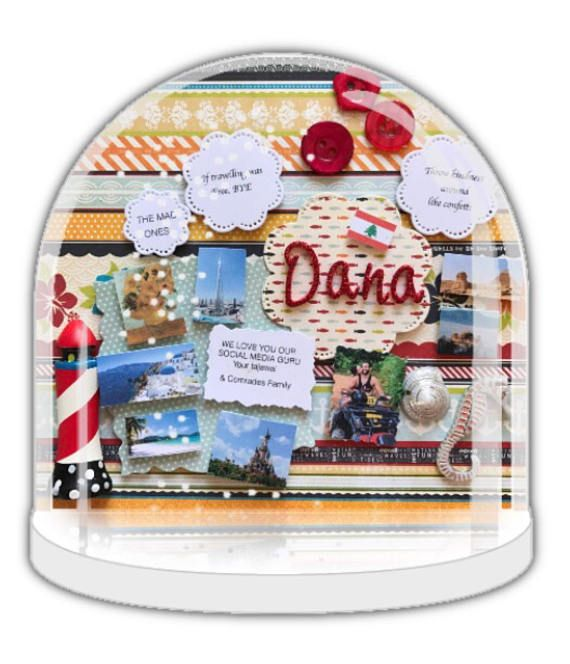 Personalised snow globe for Dana, Snow globe, thank you gift,  butterflies and flowers, home decor