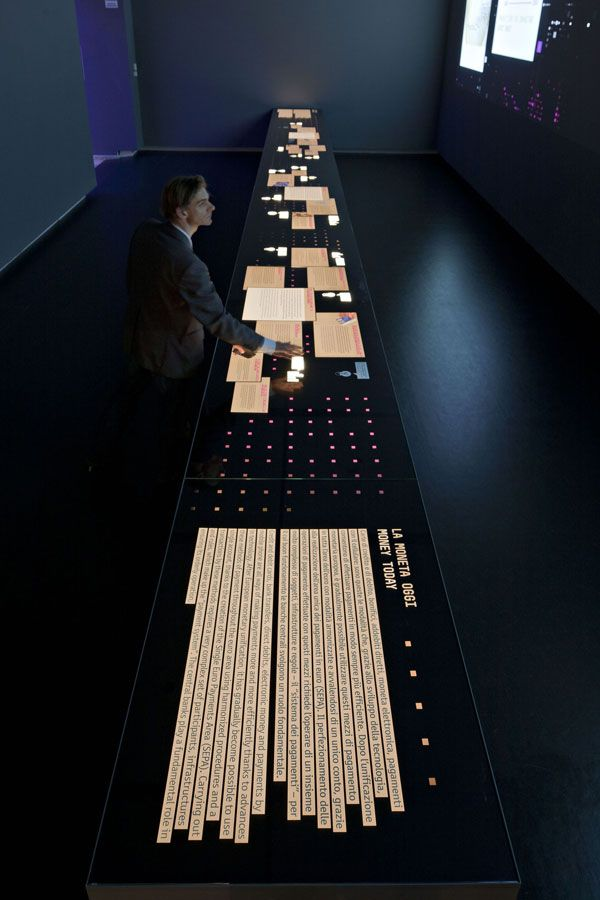 Long interactive table