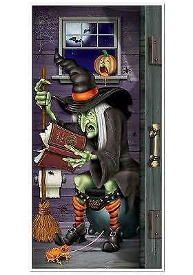 Ведьма Restroom дверь Обложка Хэллоуин украшения • CAD 7,73