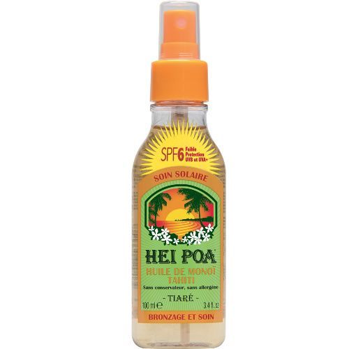 Hei Poa Monoi Oil SPF6 Tiare 100ml (Αντηλιακό Λάδι Σώματος με Άρωμα Γαρδένιας)