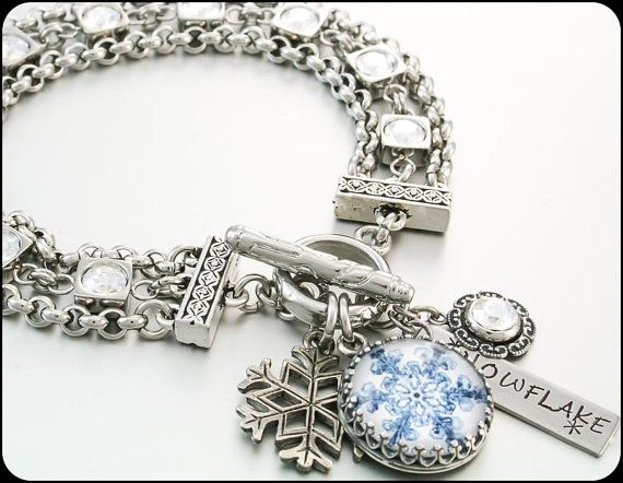Snowflake Jewelry Winter Jewelry Snowflake by BlackberryDesigns, $76.00