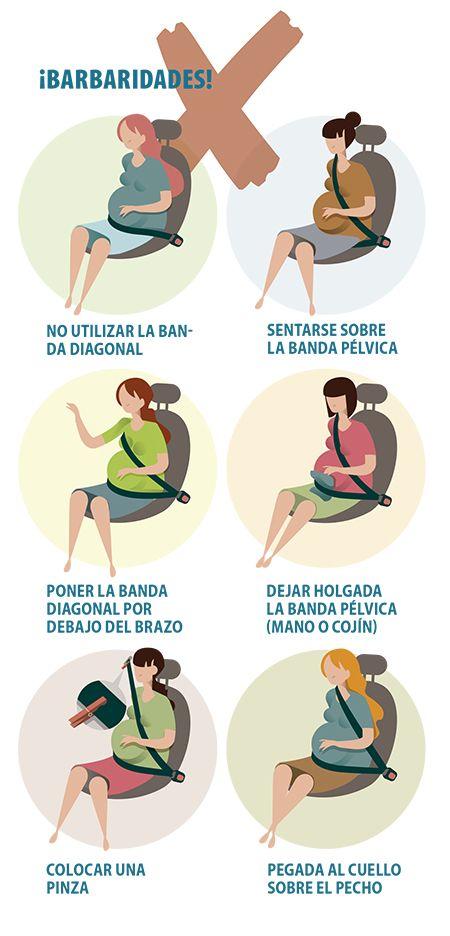 Malos usos del cinturón de seguridad en embarazadas