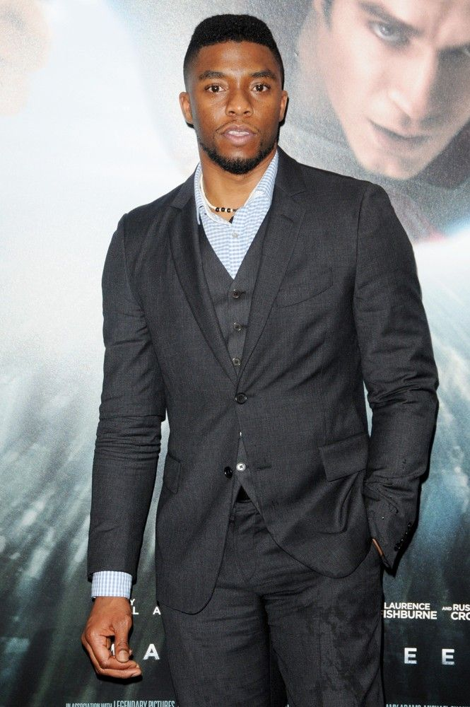 Mr. Chadwick Boseman / Makes you sing the Johnny Gill song...My, my, my you show look good tonite!