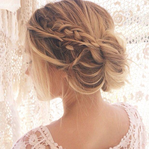 Fantastic 1000 Ideas About Bridesmaid Braided Hairstyles On Pinterest Short Hairstyles Gunalazisus