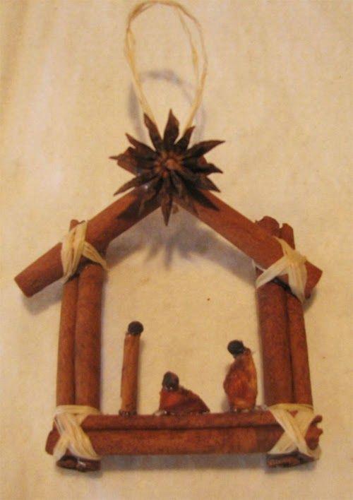 Presépios criativos - presépio de especiarias - faça você mesmo artesanato decoração de natal