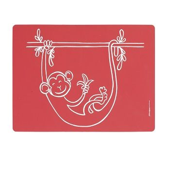 Monkey Business Placemat Red $22.95 #sweetcreations #baby #toddlers #kids #feeding #feedme