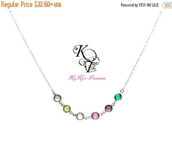 Grandmother Necklace Birthstone Necklace by KyKysTreasuresLLC