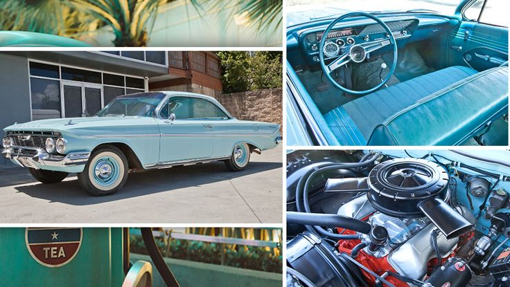 This 1961 Chevrolet Bel Air is in fantastic condition; from the pristine paintwork to the 60's aquamarine interior 🤤  Make your bid on this and other all American Classics in next Saturday's USA Classic Car Online Auction at 12:00 pm