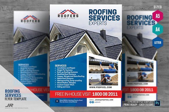 Pin On Roofing Flyer