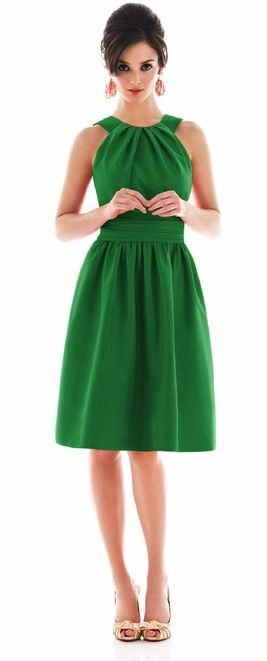 Emerald Halter Dress. Nice for a wedding