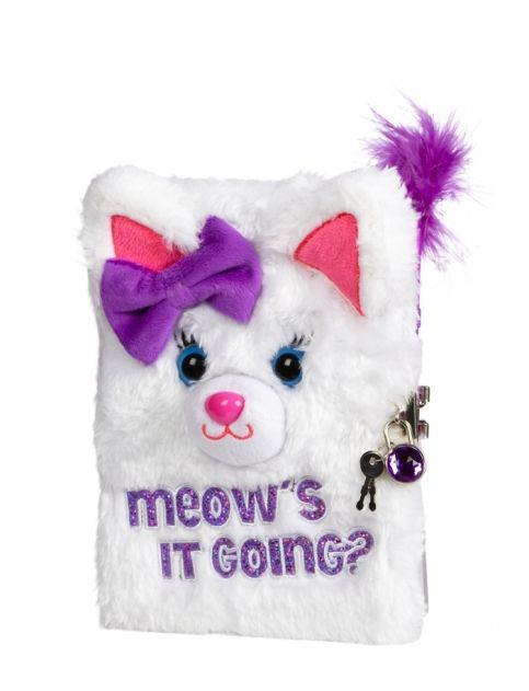 Plush Kitty Journal | Girls Journals & Writing Room, Tech & Toys | Shop Justice