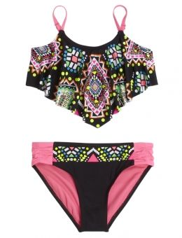 Shop Embellished Flounce Bikini Swimsuit and other trendy girls swimsuits swim at Justice. Find the cutest girls swim to make a statement today.