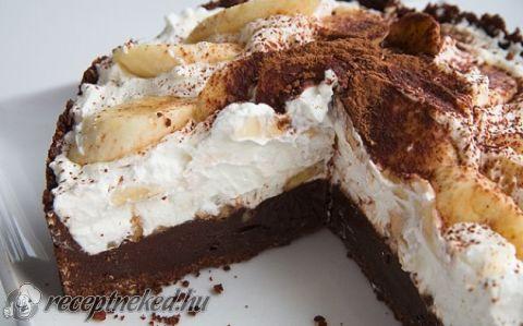 Banános-karamelles csokitorta recept fotóval