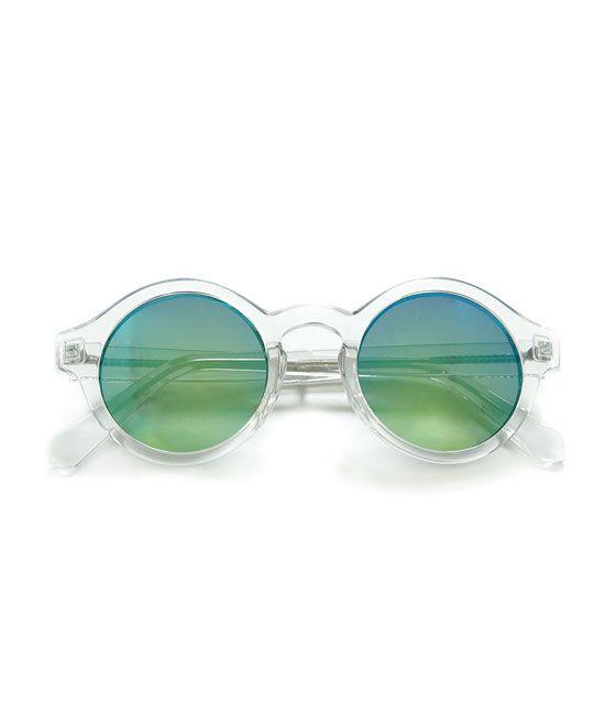 image 1 de lunettes rondes monture transparente de zara. Black Bedroom Furniture Sets. Home Design Ideas