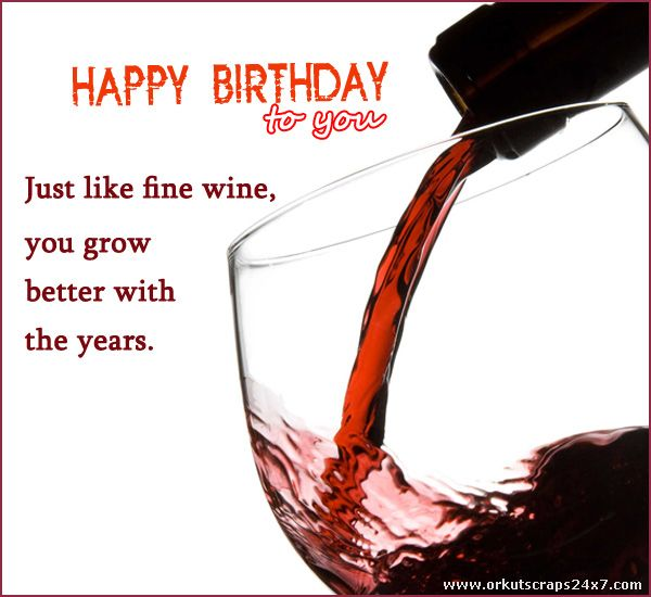 Celebrate The Birthday With Red Wine