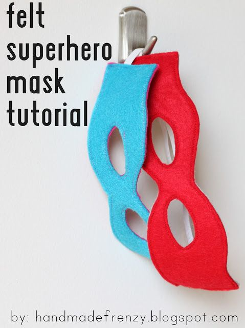 Handmade Frenzy: Felt Superhero Mask Tutorial. Also make reading more fun by having them read with the masks on