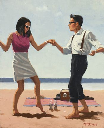 """Jack Vettriano """"Jive Study"""" (usually don't like his paintings. LOVE this one.)"""