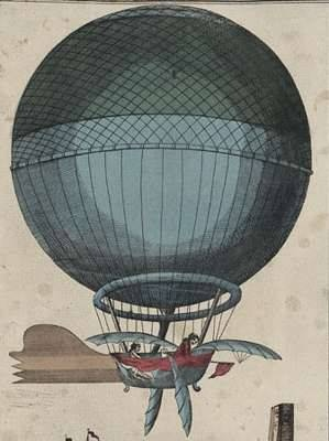 Blanchard's hydrogen balloon with flaps, 1785: Jeanpierreblanchard3Jpg 386640, Hot Air Balloon, Jeans Pierre, Art Prints, Channel Crosses, Dirig, Nurseries Prints, Blanchard Channel, English Channel