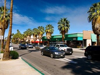 Palm Canyon Shopping Center in Palm Springs, Calif.