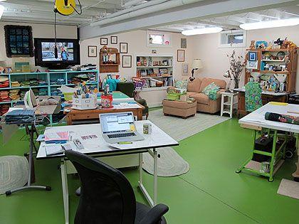 Sarah Smith's basement studio