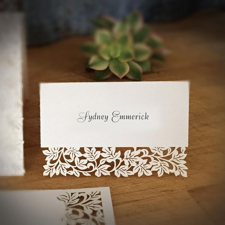 wedding cards with price in chennai%0A Laser Cut Place Card  Clara  No Printing