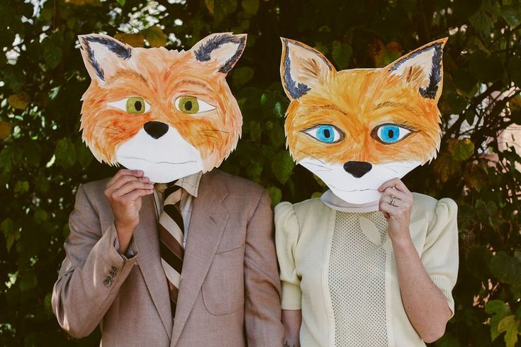 Fantastic Mr. fox idea using paper face masks