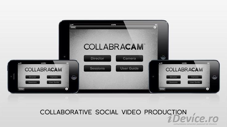 Collabracam ne permite sa editam clipuri video pe multiple iDevice-uri simultan, este disponibila GRATUIT in App Store