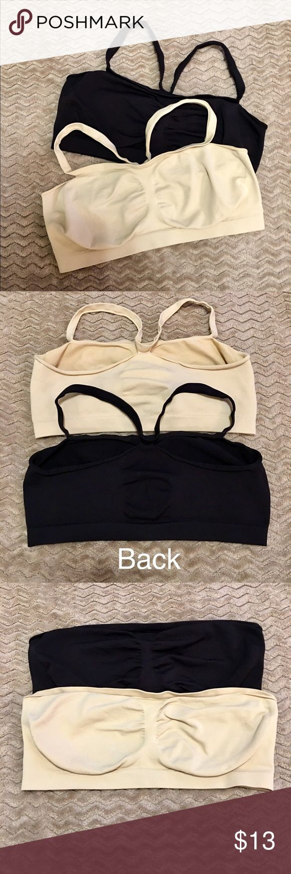 Barely There Customflex Fit Bandini- XL- set of 2 Set of 2–NWOT—SIZE- XL- Hanes Barely There Customflex Bra's. This multi-pack includes 2 seamless, soft-cup bras that are so cozy and comfy, they make perfect sleep bras as well as very comfortable everyday bras.  Stretch convertible shoulder straps Wire free 96% Nylon, 4% Spandex Totally seam-free styling and no irritating tags. shapes without poking or adding bulk for the ultimate in comfort. Over 10 different ways to wear it. ultimate…