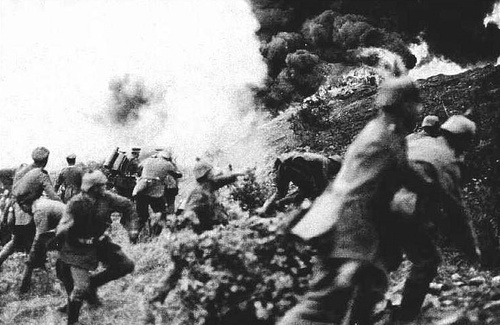 The Battle of Verdun: one of the most devastating battles in human history & the longest of WWI.  Here, for the first time in war, the flamethrower was used by German troops. As a result of Verdun & the Somme, Germany's military leaders created the strategy of Blitzkreig in WWII.