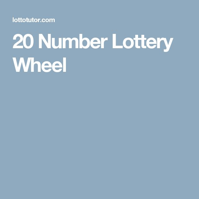20 Number Lottery Wheel