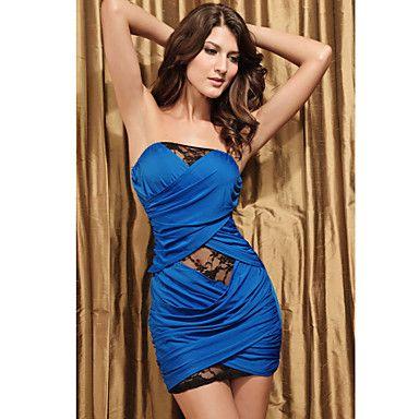 vrouwen club bandeau kanten jurk (lengte: 68cm buste :86-102cm taille :58-79 hip :90-104cm) – EUR € 9.89