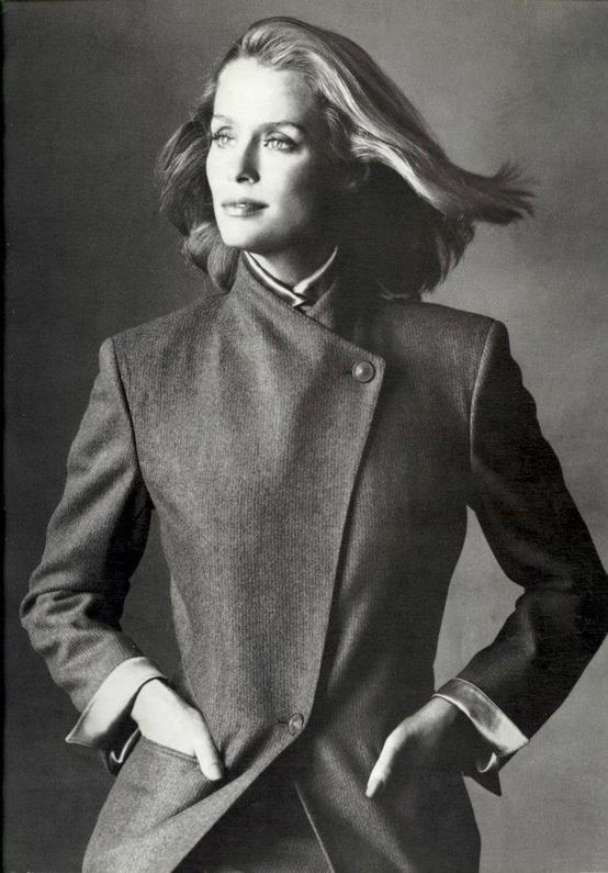Lauren Hutton. Photo by Irving Penn for Basile, 1980.