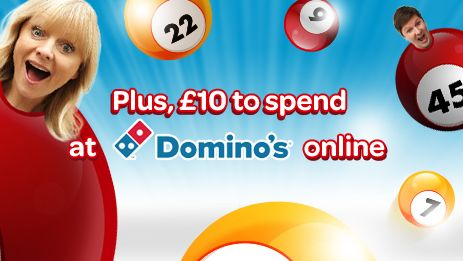 Sun Bingo £10 Domino's Pizza voucher Offer! Deposit just £10 with the famous Sun Bingo today and Get £30 to Play and a £10 Domino's Pizza voucher, This is a limited promotion so don't miss out! Simply make your first deposit of £10 and get playing today to claim your unique code then sit back and enjoy Sun Bingo with a slice of your favourite pizza! http://www.initto-winit.com/bingo/sun-bingo/