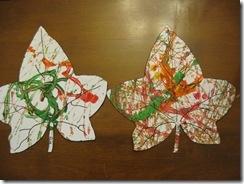 marble paint leaves