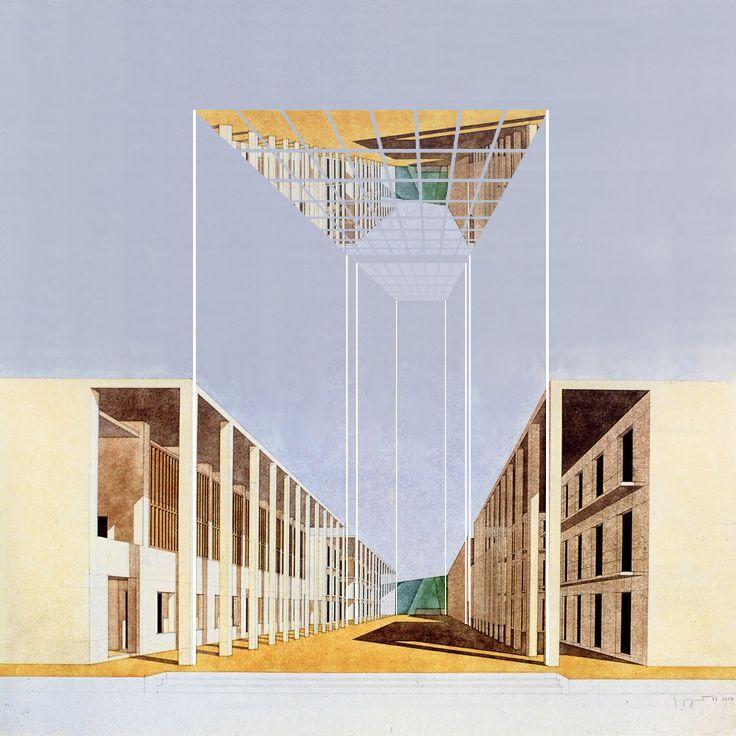 """Lorenzo Degli Esposti, Consolation0011: Duplicating (and Rampant) Altanella on the """"Casa dello studente a Chieti"""" by Giorgio Grassi (1935) and Antonio Monestiroli (1940), Milan, 2014"""
