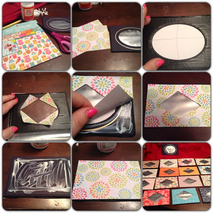 Repurpose Old, Plastic Photo Albums! Use Modge Podge To