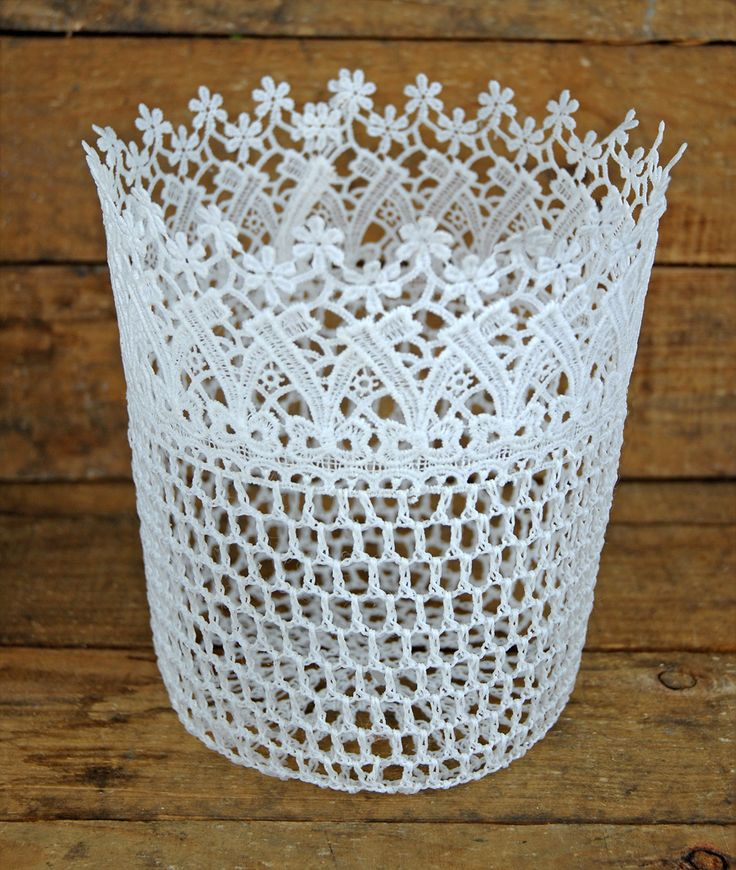 for the flower girl, Lace Basket White 8in