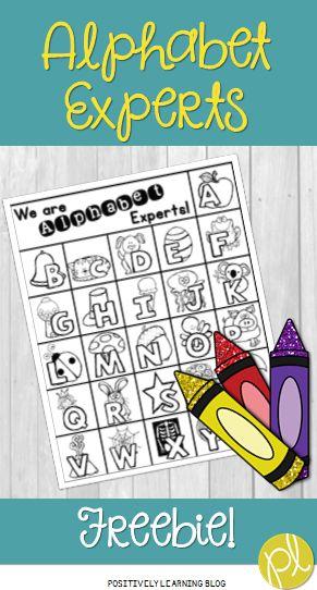 Positively Learning Blog: Alphabet Experts Freebie