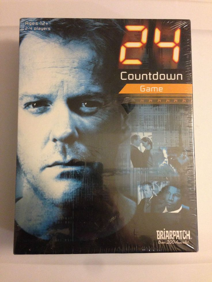 24 COUNTDOWN Board Game NEW TV Jack Bauer Chloe O'Brian CTU Special Agent Kiefer